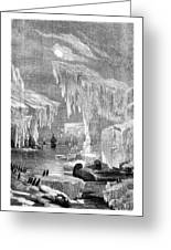 Erebus And Terror In The Ice 1866 Greeting Card
