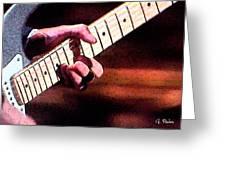 Eric Clapton Playing Guitar Greeting Card