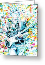 Eric Clapton - Watercolor Portrait Greeting Card