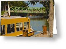 Erie Canal At Pittsford Ny Greeting Card