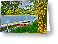 Erie Canal Dockage Greeting Card
