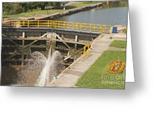 Erie Canal Lock Greeting Card