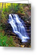 Erie Falls Vertical Panoramic Greeting Card