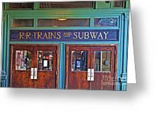 Erie Lackawanna Terminal Doors Hoboken Greeting Card