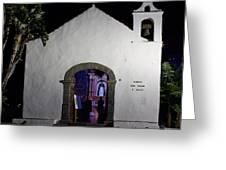 Ermita San Telmo. Puerto De La Cruz By Night Greeting Card