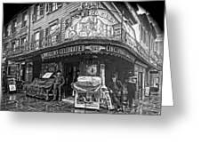 Ernst Roebers Saloon - Manhattan - 1908 Greeting Card by Daniel Hagerman