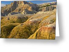 Eroded Buttes Badlands National Park Greeting Card