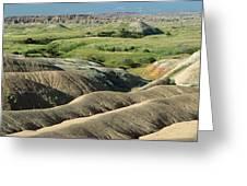 Eroded Landscape Badlands Np Greeting Card