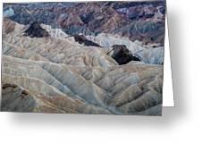Erosional Landscape - Zabriskie Point Greeting Card