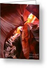 Erosions At Antelope Canyon Greeting Card