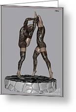 erotic acrobatics 2EA 1 Greeting Card by Pemaro