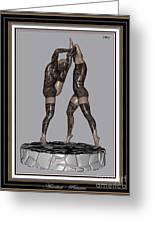 erotic acrobatics 2EA 2 Greeting Card by Pemaro