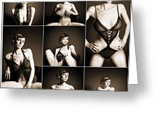 Erotic Beauty Collage 14 Greeting Card