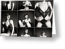 Erotic Beauty Collage 15 Greeting Card