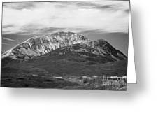 Errigal Mountain Donegals Highest Peak Against A Blue Sky Between Dunlewey And Gweedore White Quartzite Conical Cone County Donegal Republic Of Ireland Greeting Card