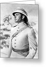 Errol Flynn In The Charge Of The Light Brigade Greeting Card
