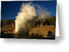 Eruption Along The Firehole Greeting Card
