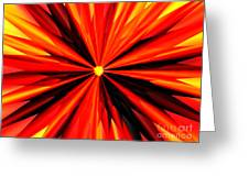 Eruption In Red Greeting Card