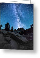 Eruption Of The Milky Way Greeting Card