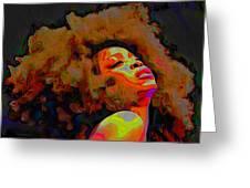 Erykah Badu Greeting Card
