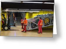 Escalator Construction Works Greeting Card