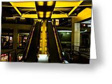 Escalator Lights Greeting Card
