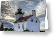 Escanaba Lighthouse Greeting Card