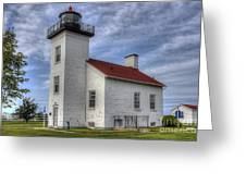 Escanaba Michigan Lighthouse Greeting Card
