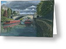 Escaping The Storm North Parade Bridge Bath Greeting Card