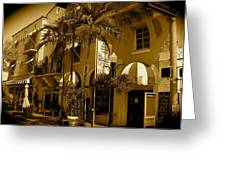 Espanola Way In Miami South Beach Greeting Card
