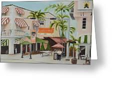 Espanola Way South Beach Florida Greeting Card