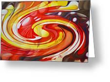 Espiral De Colores Greeting Card