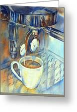 Espresso Machine 3 Greeting Card