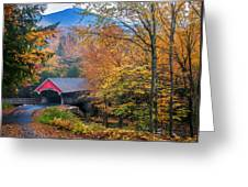 Essence Of New England - New Hampshire Autumn Classic Greeting Card