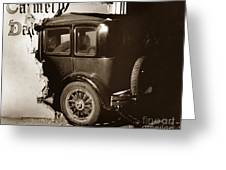 Essex Super Six In Carmel Dairy 1933 Greeting Card