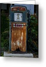 Esso Gas Pump Greeting Card