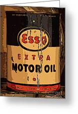 Esso Motor Oil Can Greeting Card