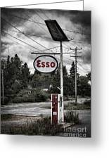 Esso Sign And Pump Greeting Card