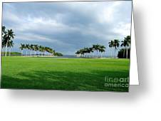 Estate Lawn Greeting Card by Andres LaBrada