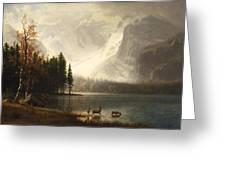 Estes Park Colorado Whytes Lake Greeting Card by Albert Bierstadt