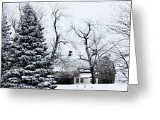 Estherville Barn Greeting Card by Julie Hamilton