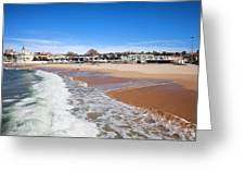 Estoril Beach In Portugal Greeting Card