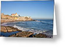 Estoril Coastline In Portugal Greeting Card