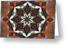 Estuary Sunrise Mandala Greeting Card