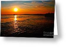Estuary Sunset  Greeting Card