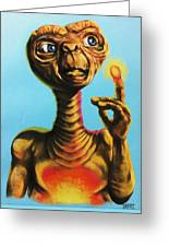 E.t. The Extra Terrestrial  Greeting Card