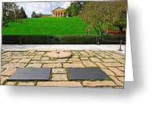 Eternal Flame At Kennedy Resting Place Greeting Card