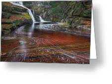 Ethereal Autumn Square Greeting Card