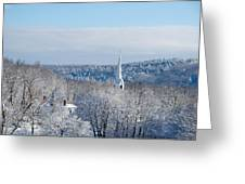 Ethereal Steeple Greeting Card