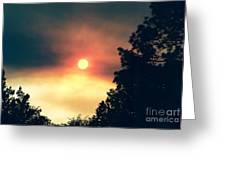 Ethereal Sunset Greeting Card
